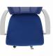 Kancelářská židle IZOLDA, modrá/bílá/chrom