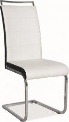 Jídelní čalouněná židle H-441 bílá/černá