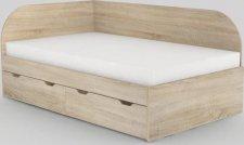 Dětská postel REA GARY 120x200 s úložným prostorem, levá, DUB BARDOLINO