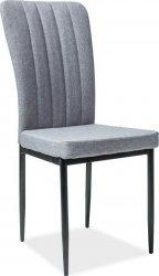 Jídelní čalouněná židle H-733 šedá/černá