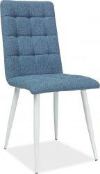 Jídelní čalouněná židle OTTO modrá/bílá