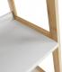3-policový víceúčelový regál, bílá / přírodní, KOEN TYP 4