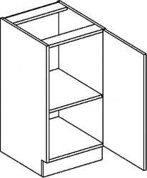 D40P dolní skříňka jednodvéřová NORA hruška