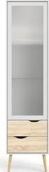 Vitrína OSLO 75461, dub sonoma/bílá