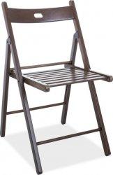 Dřevěná skládací židle SMART II, tmavý ořech