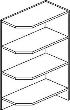 DPO dolní roh pravý PAULA šedá platina