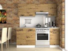 Kuchyňská linka Luigi 180 cm, dub artisan