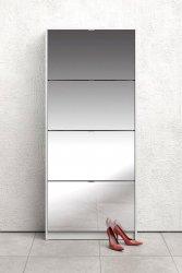 Botník Flap 010 4KL se zrcadlem, bílá