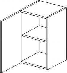 W50L horní skříňka jednodvéřová PREMIUM olše