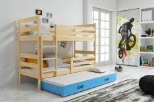 Patrová postel Norbert s přistýlkou, borovice/modra