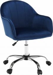 Designové kancelářské křeslo EROL, Velvet modrá/chrom