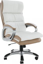 Kancelářské křeslo KOLO CH137020, ekokůže bílá/hnědá