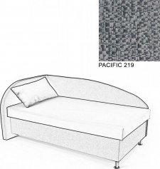Čalouněná postel AVA NAVI, s úložným prostorem, 120x200, levá, PACIFIC 219