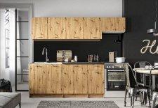 Kuchyňská linka MELVIN 240 cm, dub artisan