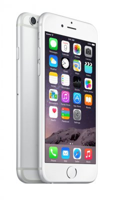 "Apple iPhone 6 64GB Silver, 4.7"" HD(1334×750), Čip A8, NFC, LTE, stříbrný"
