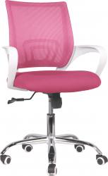 Dětská židle SANAZ TYP 2, růžová/bílý plast