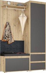 Předsíňová stěna ARBORETO SET 1 dub artisan/šedá