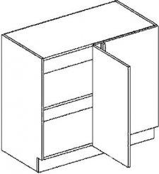 DNPP d. skříňka do rohu rovná GOBI 100 cm