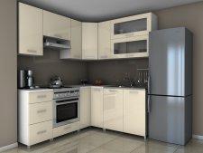 Rohová kuchyňská linka Grepolis RLG jasmín lesk