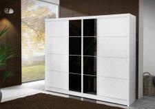 Šatní skříň PORTO 250 bílá/černá
