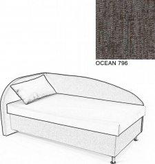 Čalouněná postel AVA NAVI, s úložným prostorem, 120x200, levá, OCEAN 796