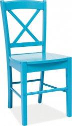 Dřevěná jídelní židle CD-56 modrá