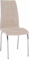 Jídelní židle GERDA NEW, béžová Dulux/chrom