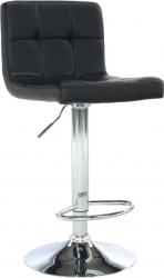Barová židle KANDY NEW, ekokůže černá/chrom