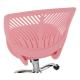 Dětská židle SELVA, růžová/chrom