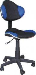 Dětská židle Q-G2  černá/modrá