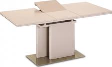 Rozkládací jídelní stůl VIRAT, capuccino extra vysoký lesk