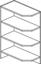 ROG dolní otevřený roh PREMIUM de LUX levý hruška