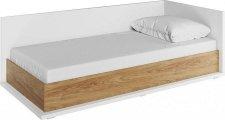 Dětská postel SOMAS 09P, 90x200 s úložným prostorem, pravá, bílá/ořech natural