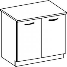 D60 dolní skříňka dvoudveřová CHAMONIX II