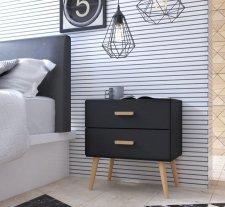Noční stolek KINGSTON 2 černá