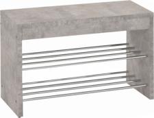 Lavice s botníkem LUSIA beton/chrom