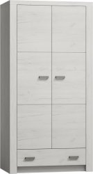 Šatní skříň INDIANAPOLIS I-1 jasan bílý
