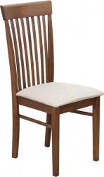 Dřevěná jídelní židle ASTRO NEW, ořech/světlehnědá látka