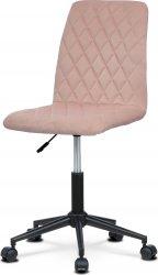 Dětská židle KA-T901 PINK4, růžová/černý kov