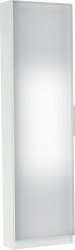 Botník KAPATER 304997 se zrcadlem, bílá