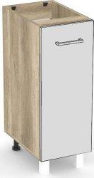 Spodní kuchyňská skříňka REA ALFA KDV-30-72 s výsuvným košem, DUB CANYON