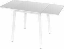 Rozkládací jídelní stůl, MAURO, bílá