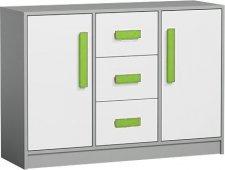 Dětská komoda GYT 6, antracit/bílá/zelená