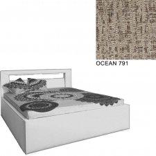 Čalouněná postel AVA LERYN 180x200, s úložným prostorem a LED osvětlením, OCEAN 791