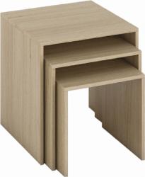 Odkládací stolek SIPANI NEW set 3 kusů, dub sonoma