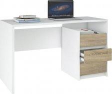 Psací stůl Felix 123 bílá/oak