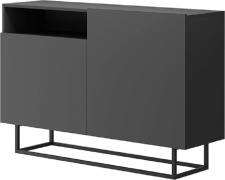 Komoda SPRING EK120, grafit/černý kov