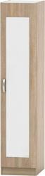 Šatní skříň BETTY 2, 1-dveřová, dub sonoma, BE02-005-00