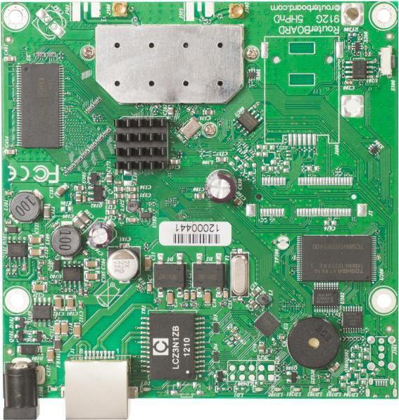 RouterBoard Mikrotik RB911G-5HPnD 600 MHz CPU, 32 MB RAM, 1x LAN, 1x 5 GHz, L3, 2x MMCX