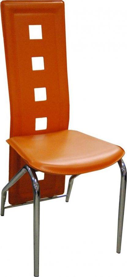 Jídelní židle F-131 oranžová